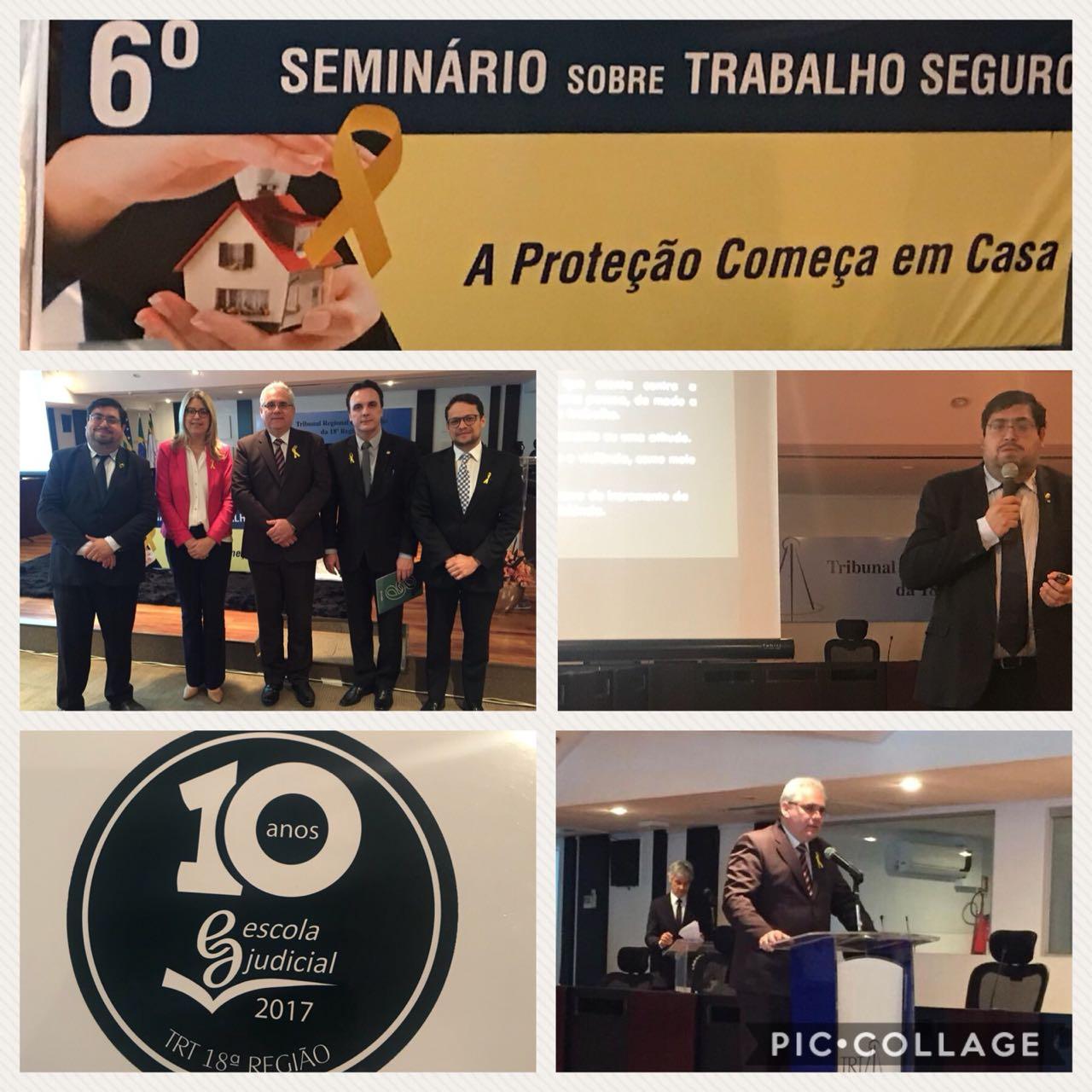 Joaquim Candido parabeniza o Ilustre Desembargador Dr. Welligton Peixoto pela inciativa de divulgação sobre Trabalho Seguro, Tema de tamanha relevância para empregadores e empregados!